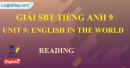 Reading - trang 25 - Unit 9 -  SBT tiếng Anh 9 mới