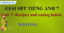 Writing  - Unit 7 - Sách bài tập (SBT) tiếng Anh 9 mới