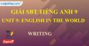 Writing - trang 27 - Unit 9 -  SBT tiếng Anh 9 mới