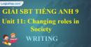 Writing - trang 47 - Unit 11 - SBT tiếng Anh 9 mới