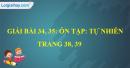 Bài 34, 35: Ôn tập: Tự nhiên trang 38, 39