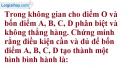 Bài 3.2 trang 129 SBT hình học 11