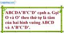 Bài 3.1 trang 129 SBT hình học 11