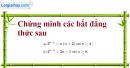 Bài 3.39 trang 133 SBT đại số và giải tích 11