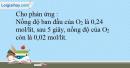 Bài 39.16 trang 88 SBT Hóa học 10
