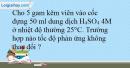 Bài 39.6 trang 86 SBT Hóa học 10