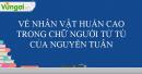 Về nhân vật Huấn Cao trong Chữ người tử tù của nhà văn Nguyễn Tuân
