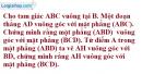 Bài 3.25 trang 150 SBT hình học 11