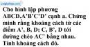 Bài 3.33 trang 160 SBT hình học 11