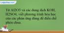 Bài 29.8 trang 69 SBT Hóa học 12