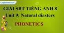 Phonetics – Unit 9 SBT Tiếng Anh 8 mới