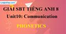 Phonetics – Unit 10 SBT Tiếng Anh 8 mới