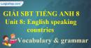 Vocabulary and Grammar – Unit 8 SBT Tiếng Anh 8 mới