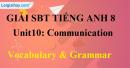 Vocabulary and Grammar  Unit 10 SBT Tiếng Anh 8 mới