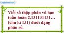 Bài 4.49 trang 173 SBT đại số và giải tích 11