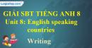 Writing – Unit 8 SBT Tiếng Anh 8 mới