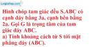 Bài 3.39 trang 160 SBT hình học 11