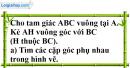 Bài 7 trang 109 SGK Toán 7 tập 1