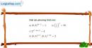 Bài 1 trang 84 SGK Giải tích 12