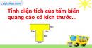 A. Hoạt động thực hành - Bài 66 : Luyện tập về tính diện tích