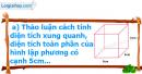 A. Hoạt động cơ bản - Bài 70 : Diện tích xung quanh và diện tích toàn phần của hình lập phương