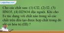 Bài 31.15 trang 73 SBT Hóa học 12