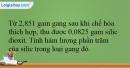 Bài 33.13 trang 79 SBT Hóa học 12