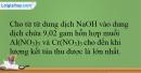 Bài 34.16 trang 83 SBT Hóa học 12