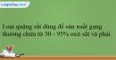 Bài 33.9, 33.10, 33.11, 33.12 trang 79 SBT Hóa học 12