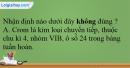 Bài 34.5, 34.6, 34.7, 34.8, 34.9 trang 81 SBT Hóa học 12