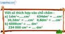 B. Hoạt động thực hành - Bài 73 : Xăng-ti-mét khối. Đề-xi-mét khối