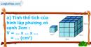 A. Hoạt động cơ bản - Bài 77 : Thể tích hình lập phương