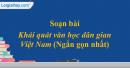 Soạn bài Khái quát văn học dân gian Việt Nam (ngắn gọn)