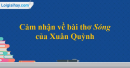 Cảm nhận về bài thơ Sóng của Xuân Quỳnh