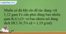 Bài 37.10 trang 92 SBT Hóa học 12
