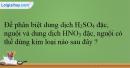 Bài 38.1; 38.2; 38.3 trang 93 SBT Hóa học 12