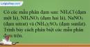 Bài 40.5 trang 95 SBT Hóa học 12