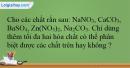 Bài 40.7 trang 95 SBT Hóa học 12