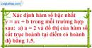 Bài 29 trang 59 SGK toán 9 tập 1
