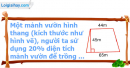 B. Hoạt động ứng dụng - Bài 108 : Ôn tập về tính chu vi, diện tích một số hình