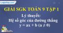 Lý thuyết Hệ số góc của đường thẳng y = ax + b (a ≠ 0).