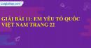 Bài 11: Em yêu Tổ quốc Việt Nam trang 33