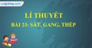 Lí thuyết bài 23: Sắt, gang, thép