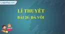Lí thuyết bài 26: Đá vôi