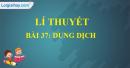 Lí thuyết bài 37: Dung dịch