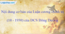 Nêu nội dung cơ bản của Luận cương chính trị (10-1930) của Đảng Cộng sản Đông Dương