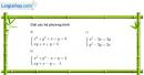 Bài 46 trang 100 SGK Đại số 10 nâng cao