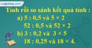 Bài 1 trang 70 (Luyện tập) SGK Toán 5