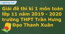 Đề thi kì 1 môn toán lớp 11 năm 2019 - 2020 trường THPT Trần Hưng Đạo Thanh Xuân