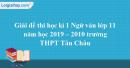 Đề thi kì 1 môn Ngữ văn lớp 11 năm 2019 - 2020 trường THPT Tân Châu